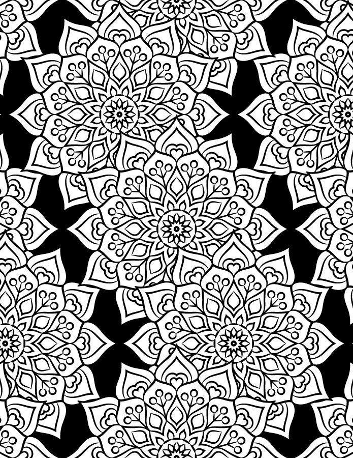 Coloriage Adulte Fond Noir.Mandala Fond Noir Coloriage Pour Adulte