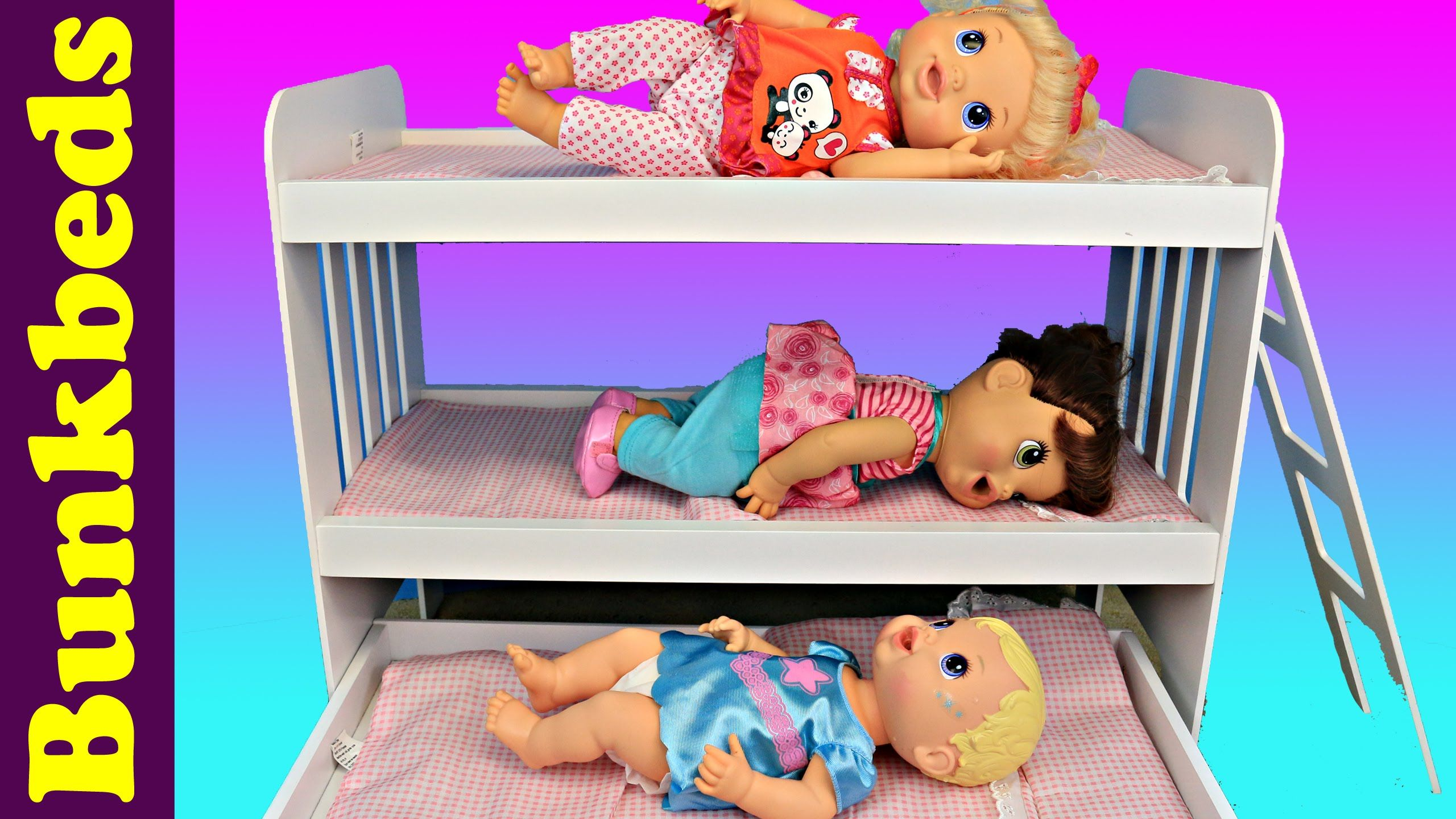 Baby Alive Triple Bunk Beds 3 Babies In A Doll Bed Trundle