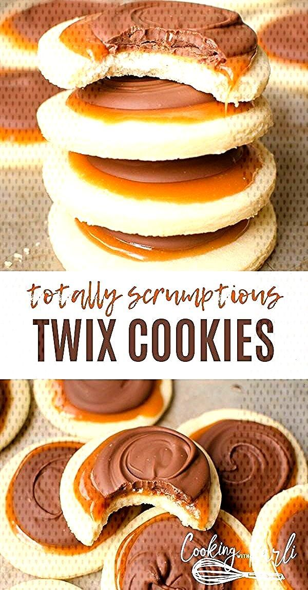 Twix Cookies are a soft sugar cookie crust, with a... -