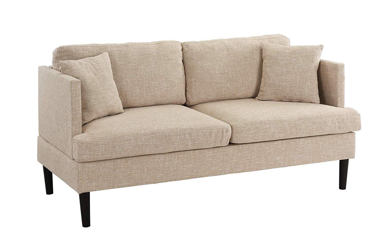 249 99 Modern Upholstered Classic Loveseat Sofa Couch Linen
