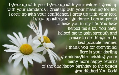 Grandpa Birthday Quotes – Happy Birthday Grandpa Wishes | http