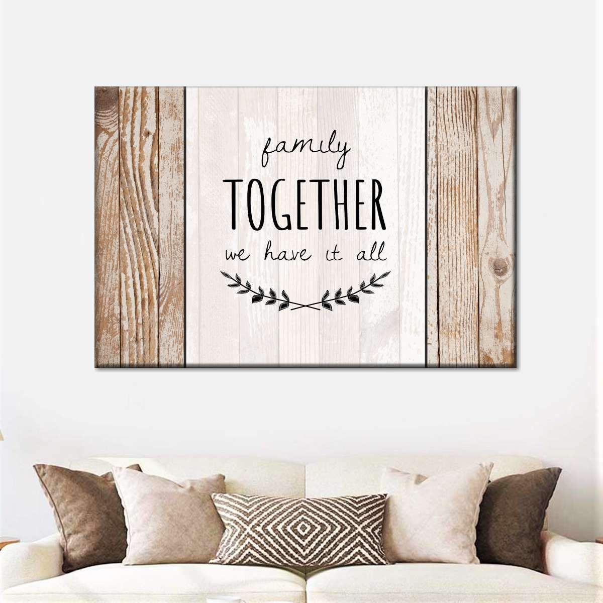 Family Together Canvas Wall Art In 2020 Family Wall Art Dining Room Wall Art Christian Wall Decor