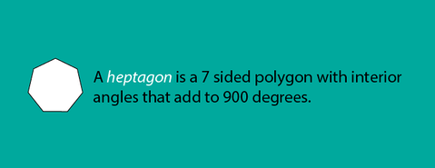 Math Facts A Heptagon Is A 7 Sided Polygon With Interior