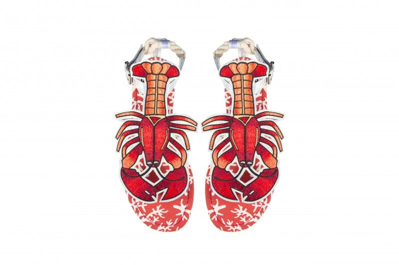 e69792a75 Have some serious snap in these Rock Lobster sandals from Miss L Fire.