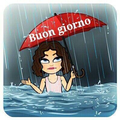 11 buon giorno piovoso buongiorno greetings pinterest for Vignette simpatiche buongiorno