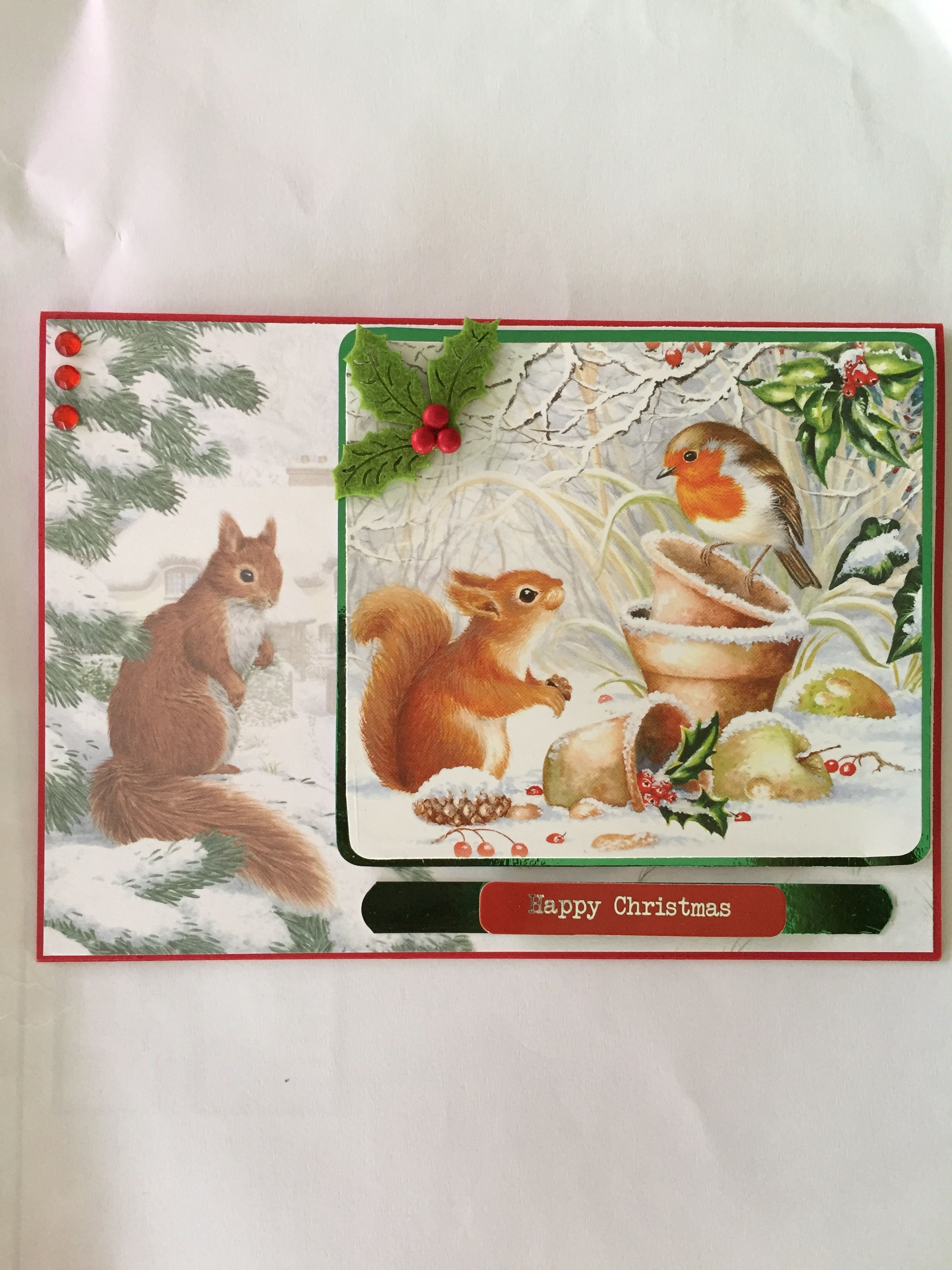 My Hunkydory card wildlife little book