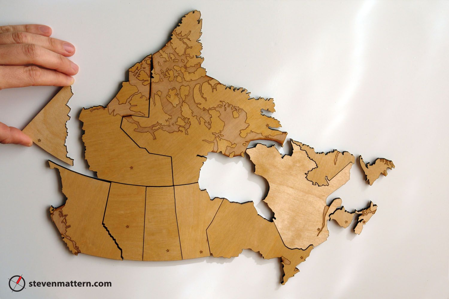 Map Of Canada Puzzle.Canada Birch Plywood Map Puzzles Map Puzzle Map Plywood Art