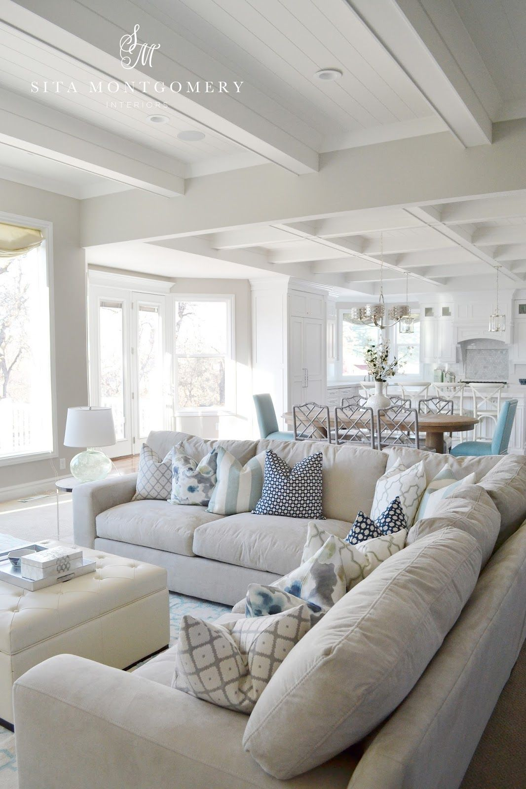 Sita Montgomery Interiors: A Gorgeous Living, Dining And Kitchen Space In Light