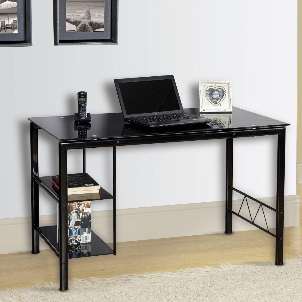 Glass Top Desk Black   http://i12manage.com   Pinterest   Glass top ...