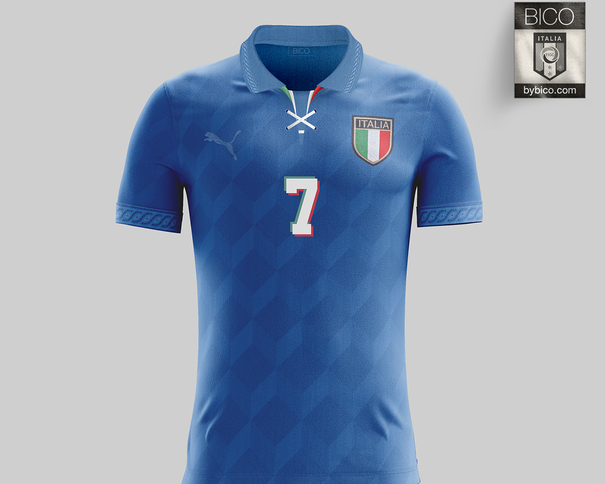 20da2bca7 Italy Kit on Behance Italy National Football Team, Football Team Kits, Polo  Shirt,