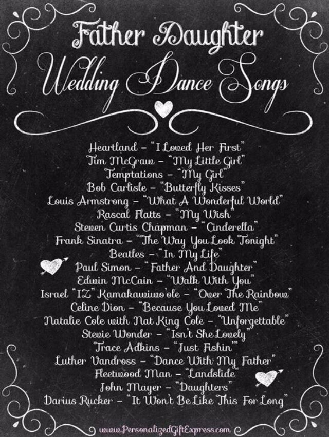Father Daughter Dance Wedding Songs