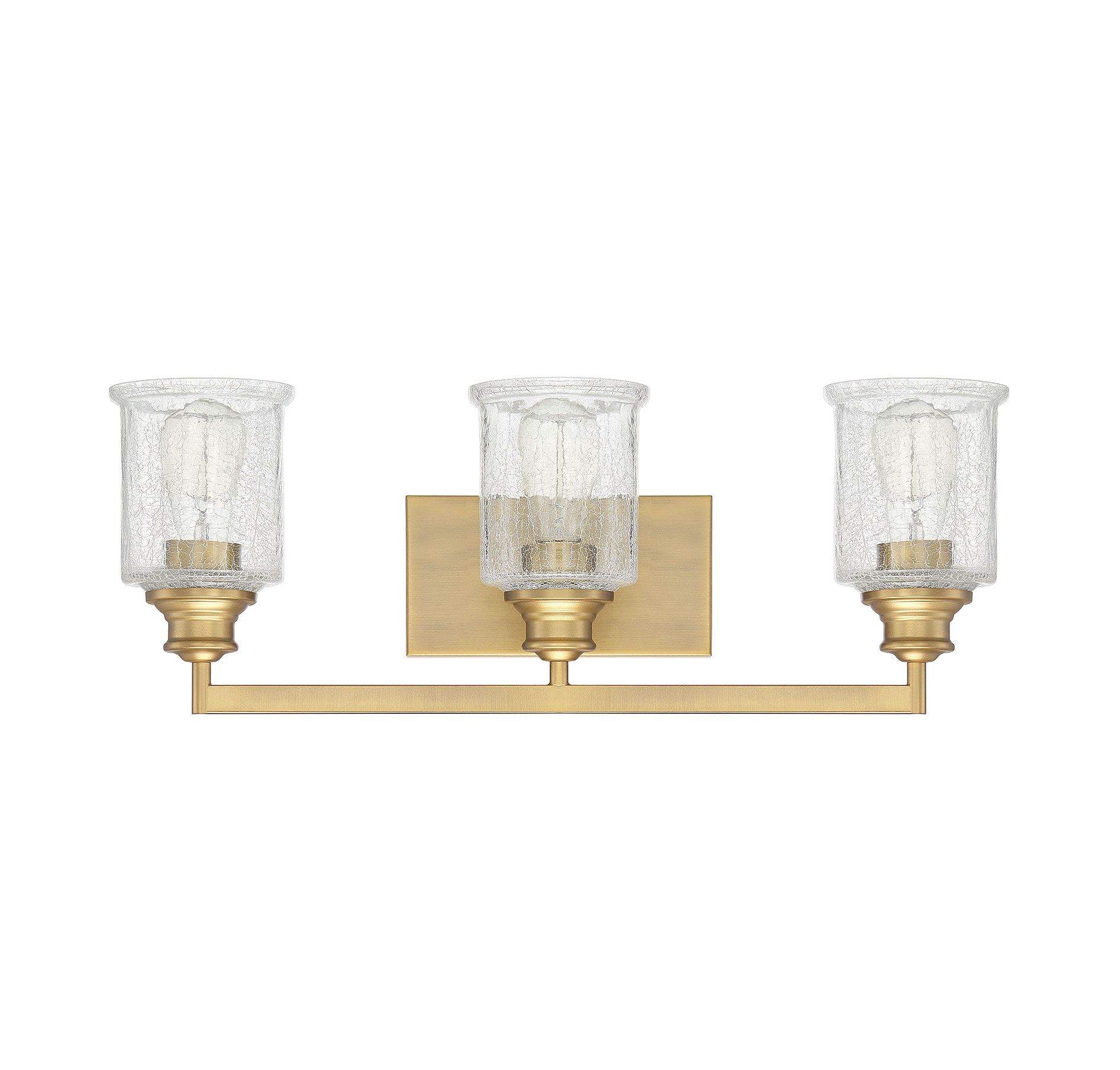 Photo of Savoy House Hampton 3-light bathroom vanity light in warm brass