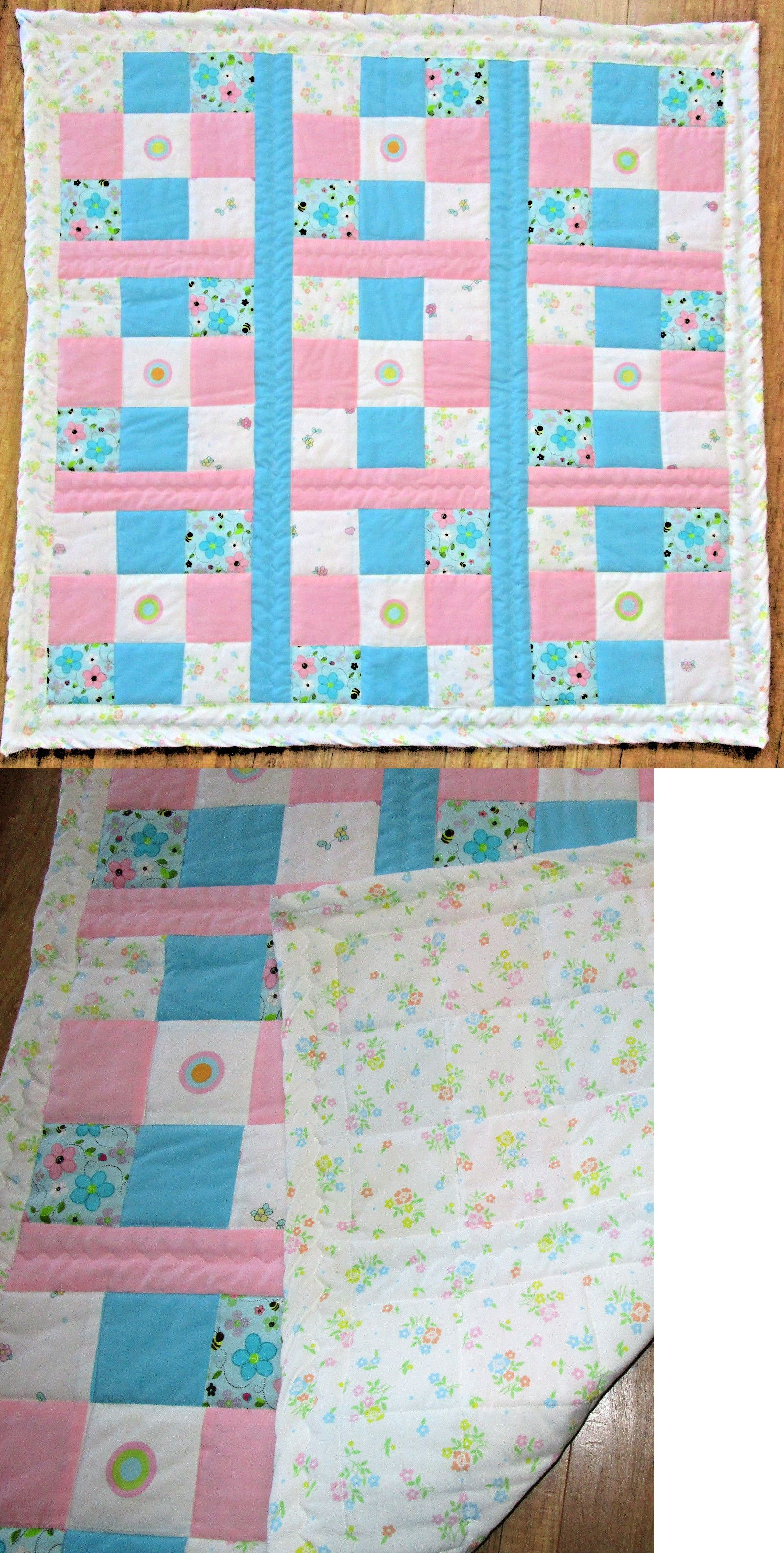 Quilts And Coverlets 180908 Pink And Turquoise Baby Girl Crib