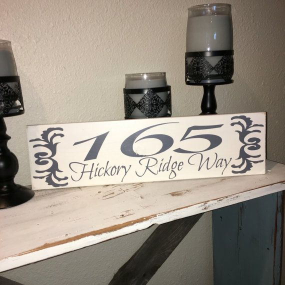 Custom Wood Sign, Address Plaque, House number sign, Outdoor Address ...