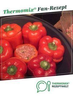 Gefüllte Paprika, mit Tomatensauce