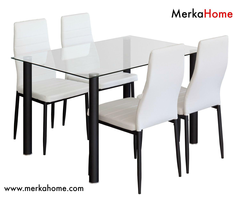conjunto mesas de cocina y 4 sillas