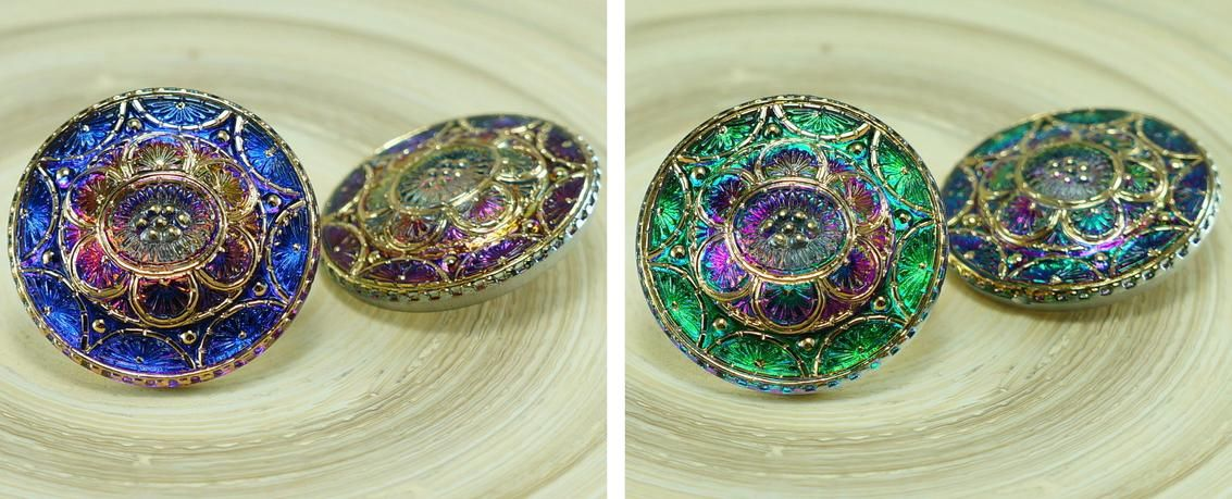 ✔ What's Hot Today: 1pc Gold Flower Volcano Purple Handmade Czech Glass Domed Button Size 14, 31.5mm https://czechbeadsexclusive.com/product/1pc-gold-flower-volcano-purple-handmade-czech-glass-domed-button-size-14-31-5mm/?utm_source=PN&utm_medium=czechbeads&utm_campaign=SNAP #CzechBeadsExclusive #czechbeads #glassbeads #bead #beaded #beading #beadedjewelry #handmade