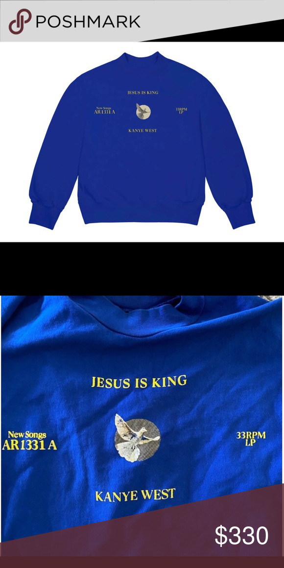 Jesus Is King Dove Crewneck Sweater In 2020 Crew Neck Sweater Sweaters Yeezy Sweater