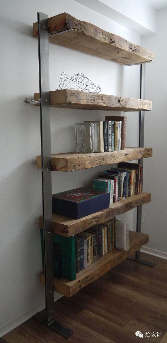 Bois De Grange Ou L Acheter Le Trouver Et Comment L Utiliser Wood Metal Shelves Reclaimed Wood Bookcase Shelves