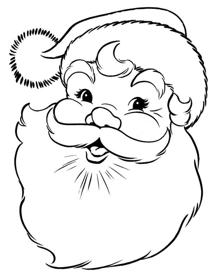 Cara De Santa Claus Para Colorear Buscar Con Google Printable Christmas Coloring Pages Santa Coloring Pages Christmas Coloring Sheets