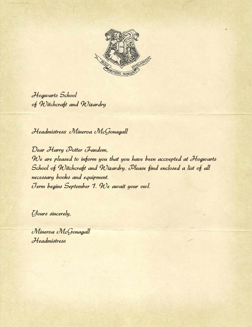 Persnickety image within harry potter acceptance letter printable