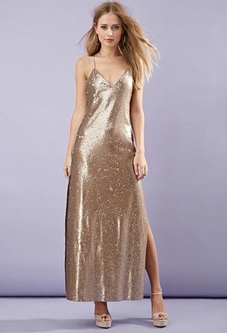 Save High Sequined Maxi Dress Forever 21 2000146113 39 90