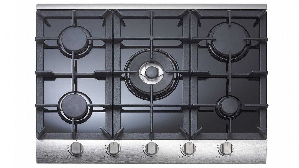 Omega 70cm 5 Burner Gas Cooktop - Black - Cooktops - Appliances ...