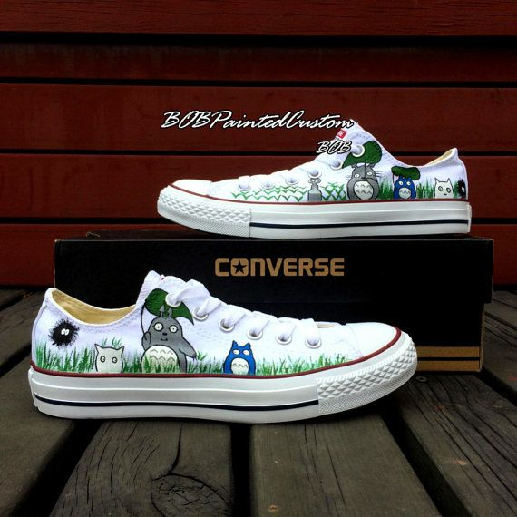 1f9c207922e68 Totoro Converse! Custom Low Top Converse Shoes White Sneakers by ...
