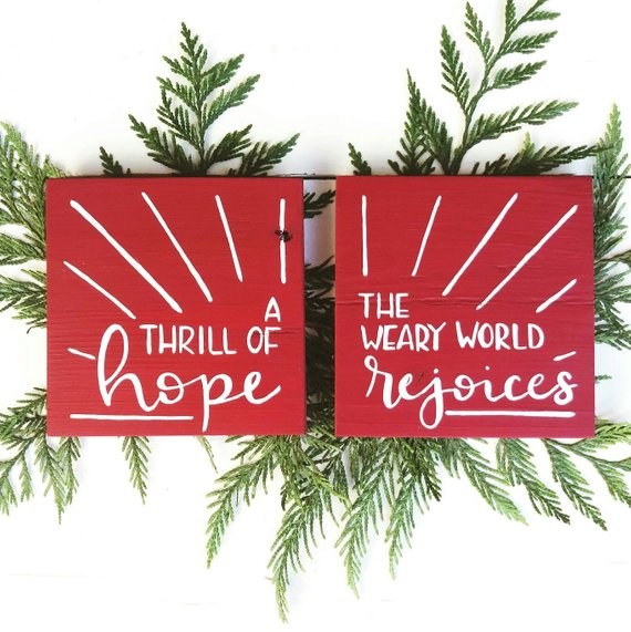 A Thrill of Hope Set of Two Signs in 2018 Christmas Christmas