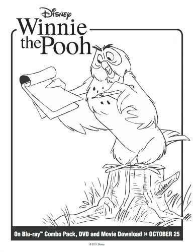 winnie the pooh printable owl coloring page printable coloring rh pinterest com christopher robin coloring pages winnie the pooh christmas coloring pages - Winnie The Pooh Printable Coloring