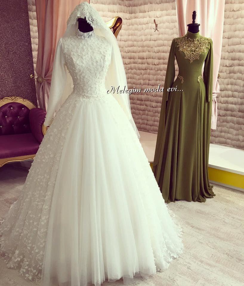 Pin by Tubali on gelinlik   Pinterest   Wedding dress, Muslim ...