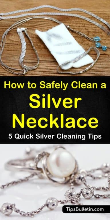5 Quick Ways Clean A Silver Necklace Clean Diysilvernecklake Necklace Quick Silve In 2020 Tarnished Silver Jewelry Cleaning Silver Jewelry Clean Sterling Silver
