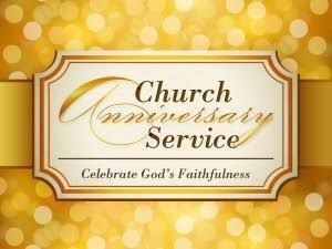 invitation for church anniversary
