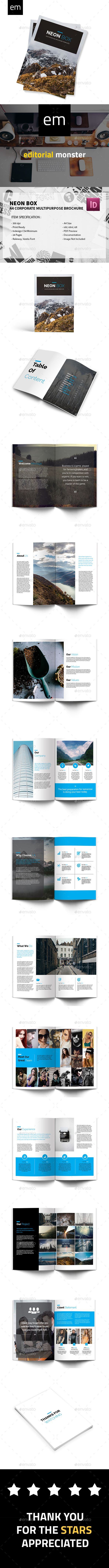 Neon Box - A4 Corporate Multipurpose Brochure