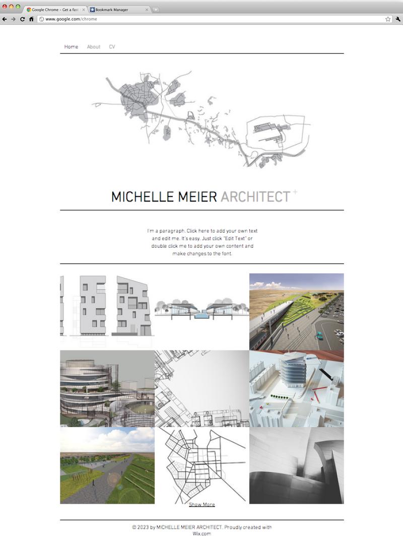 Architect Portfolio Website Template | Wix Website Templates ...