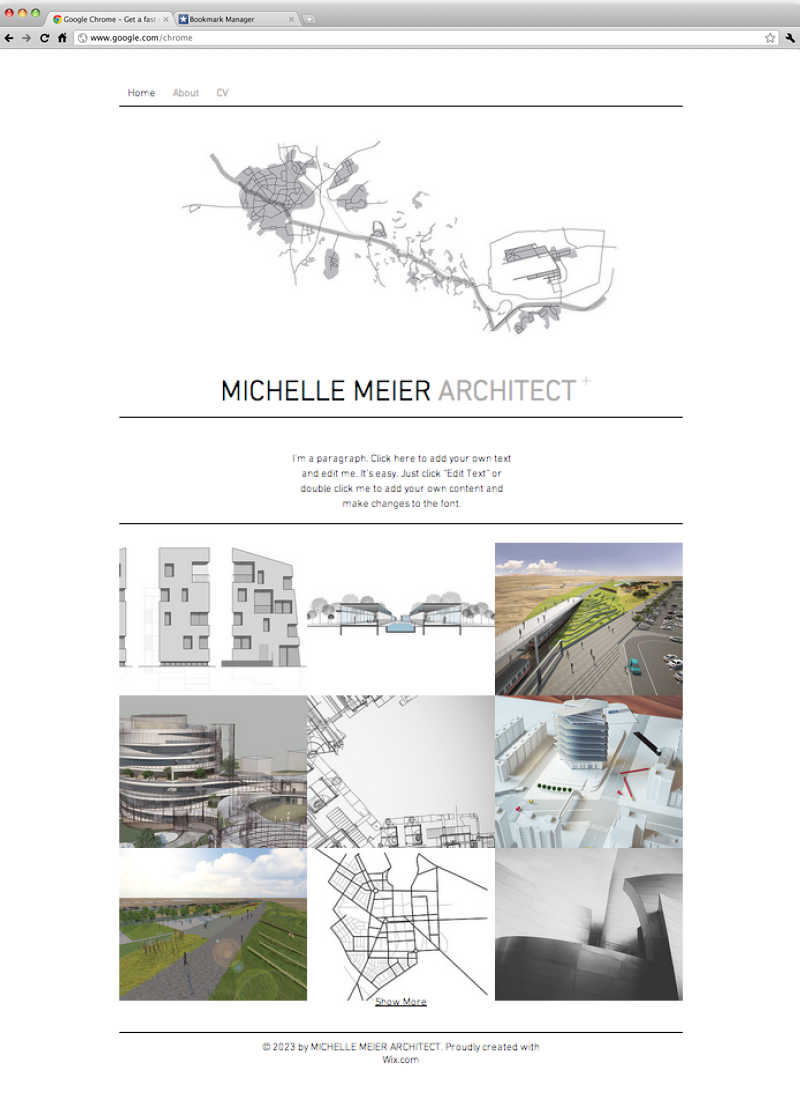 architect portfolio website template