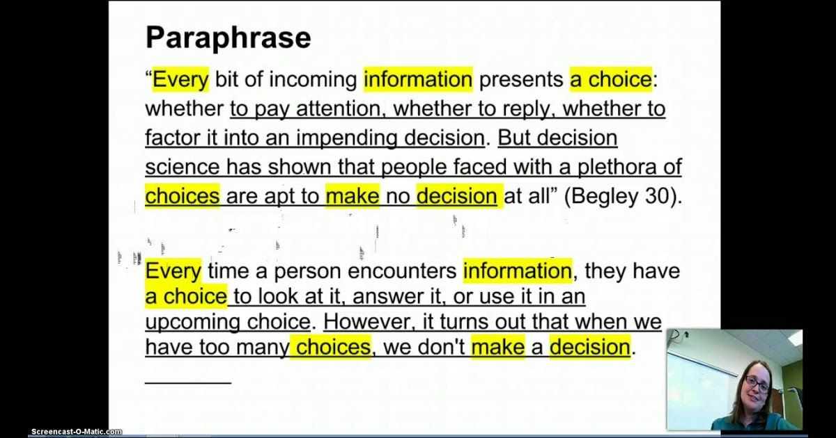Image Result For Quotation And Paraphrasing Paraph Paraphrase Quotes Response Example A I Quizlet
