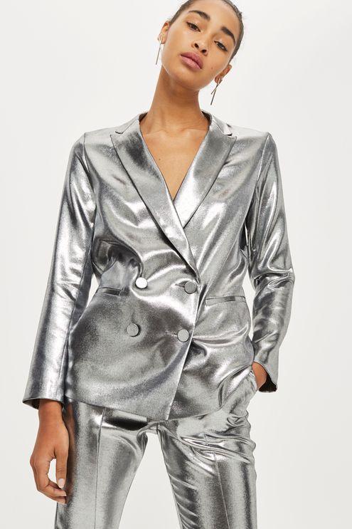 Metallic Suit Jacket Fashion Women S Suiting Jackets
