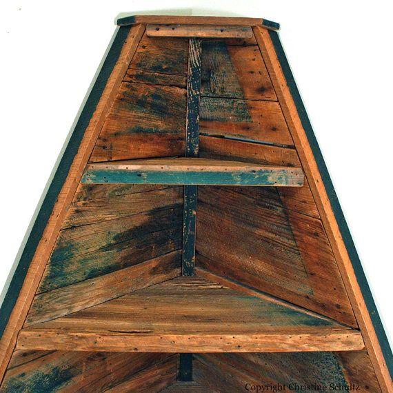 Corner Cabinet Shelves Handmade From Reclaimed Wood By TaylorArts - Reclaimed Wood Corner Shelf WB Designs