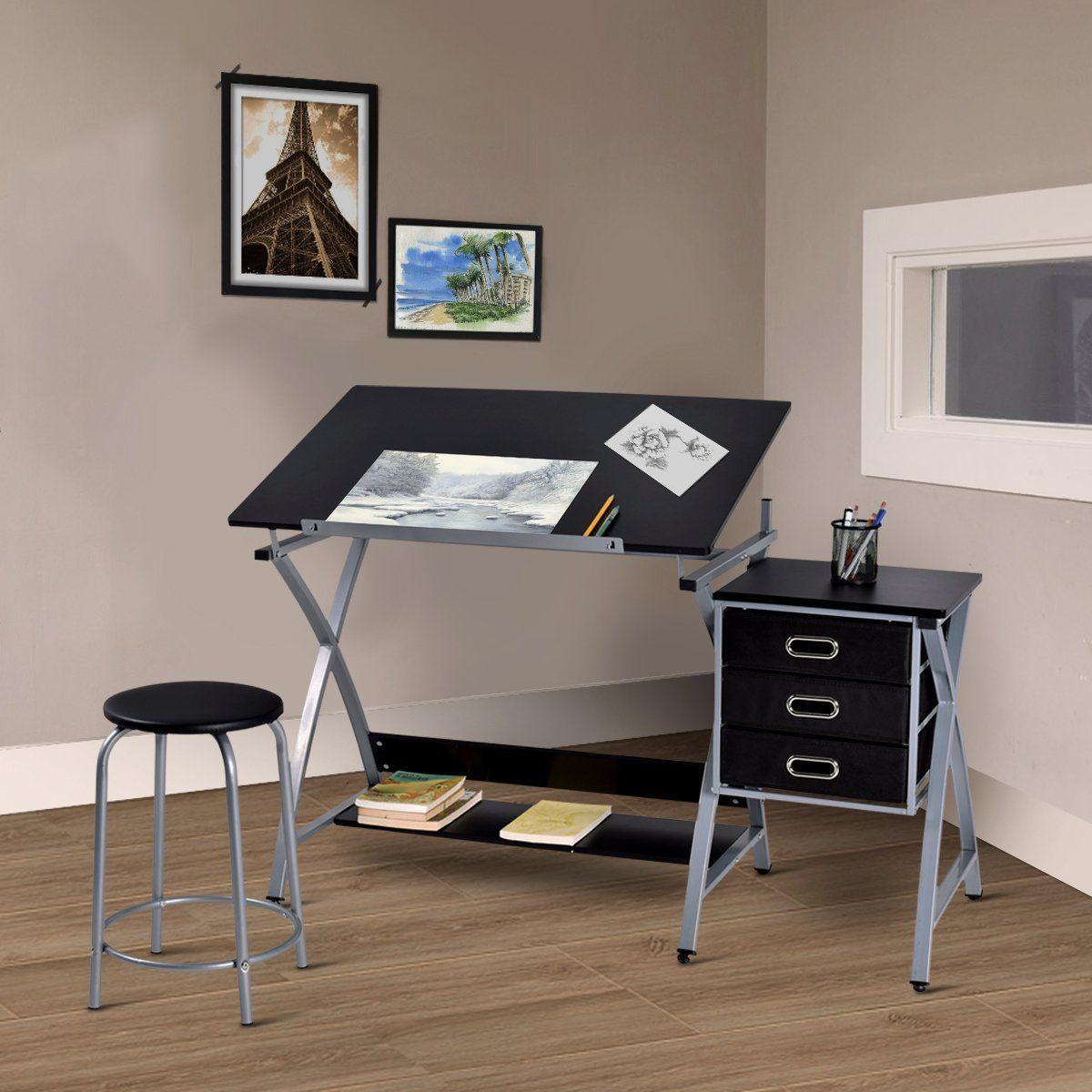 Terrific Amazon Com Tangkula Drafting Table Art Craft Drawing Desk Creativecarmelina Interior Chair Design Creativecarmelinacom