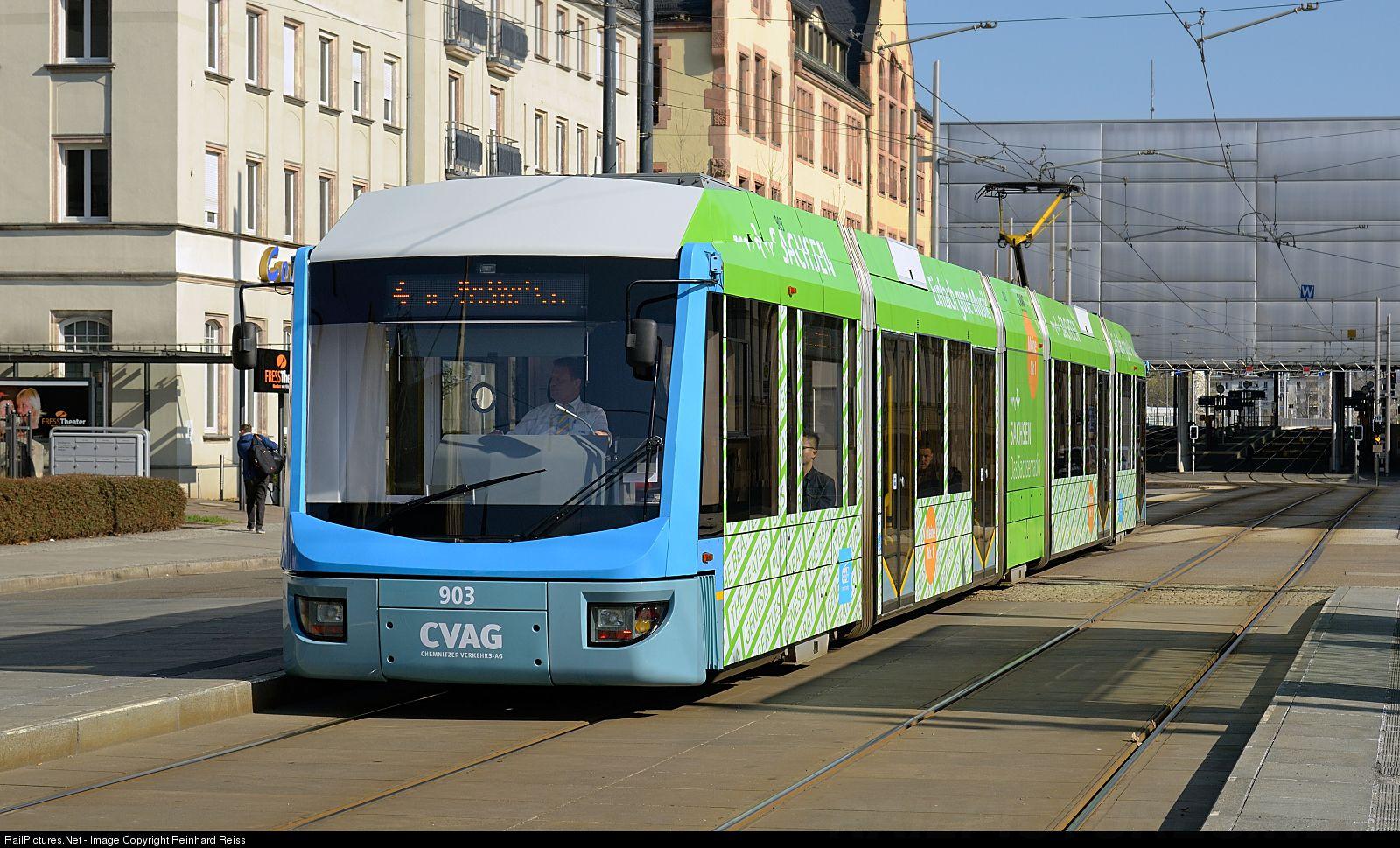 Cvag 903 Chemnitzer Verkehrs Ag Cvag Ngt6 At Chemnitz Germany By Reinhard Reiss Chemnitz Railway Germany