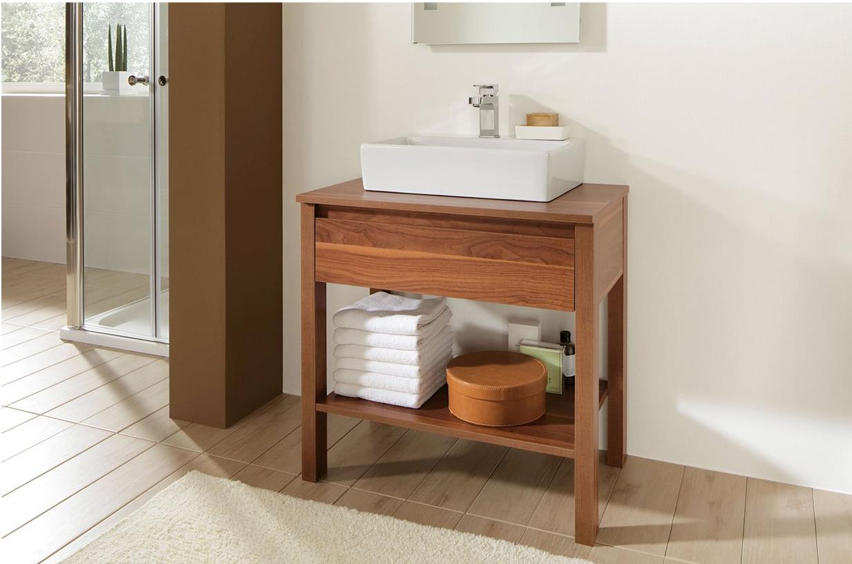 Stauraum Badezimmer ~ Optimaler eckiger waschtisch der in jedem kleinen badezimmer