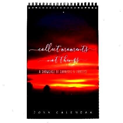 Page Calendar -Sunsets Quotes Landscape Photos One Page Calendar -  Edited witLandscape Photos One