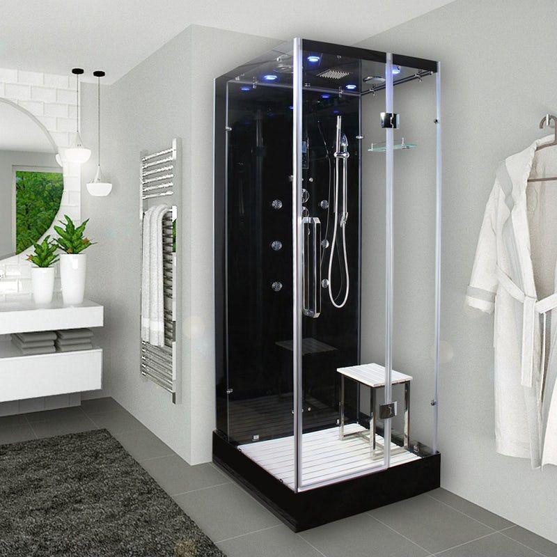Insignia Noire Square Steam Shower Cabin 900 X 900 Shower Cabin