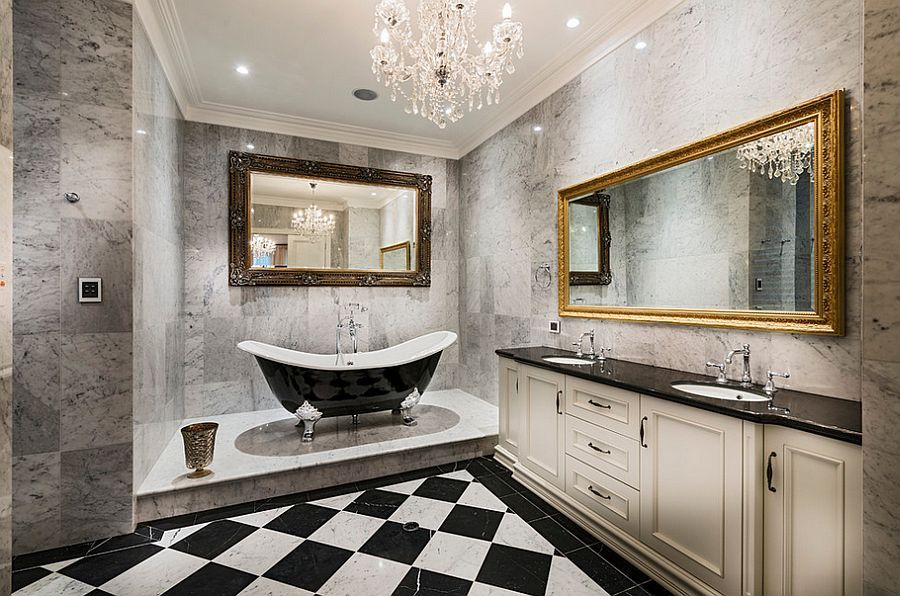 25 Sparkling Ways Of Adding A Chandelier To Your Dream Bathroom Awesome Bathroom Chandelier Inspiration Design
