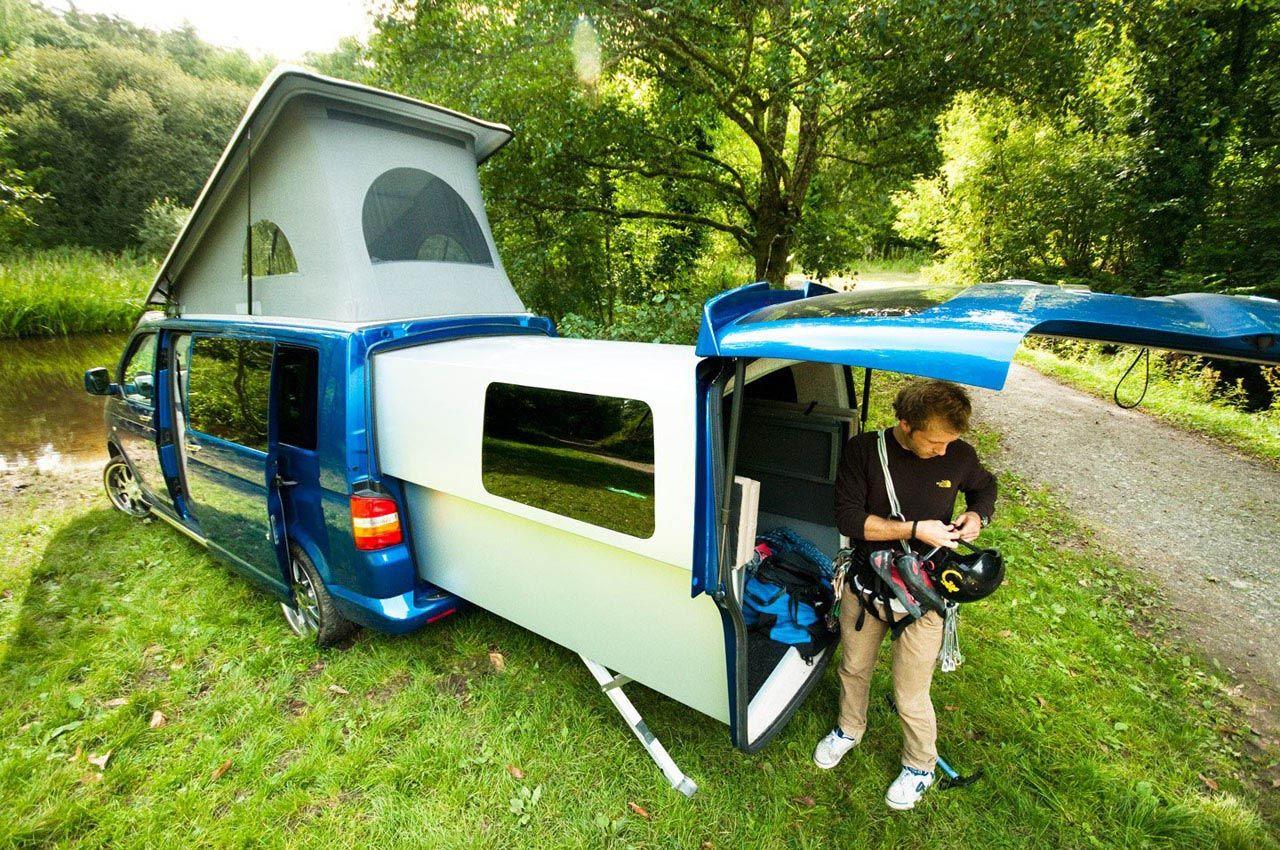 doubleback volkswagen transporter conversion camper. Black Bedroom Furniture Sets. Home Design Ideas