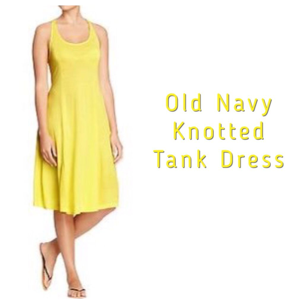 Yellow dress for women  Old Navy Knktted Back Tank Dress  Yellow  Products