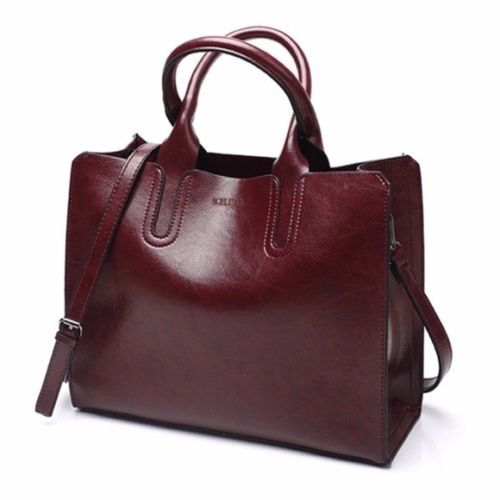 8c8ceae0111 Details about The Fola Structurd Tan & Coffee Vegan Leather Handbag ...