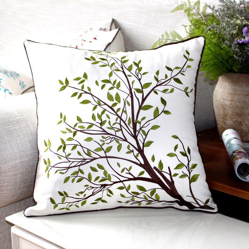 Amazon sideli embroidery decorative pillow cover cushion