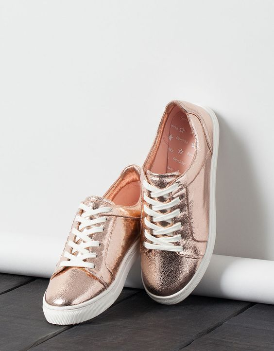 Colores Metálicos Sneakers Rose Gold, Rose Gold Trainers, Rose Gold  Metallic Shoes, Metallic 2ac6e996b1d8
